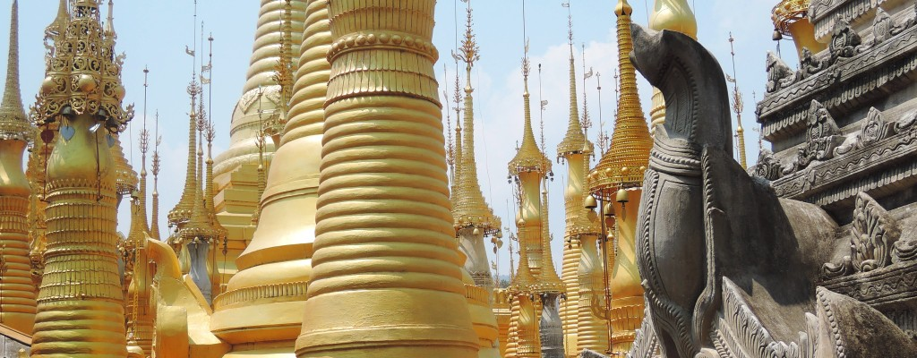 Goldene Pagoden am Inle-See